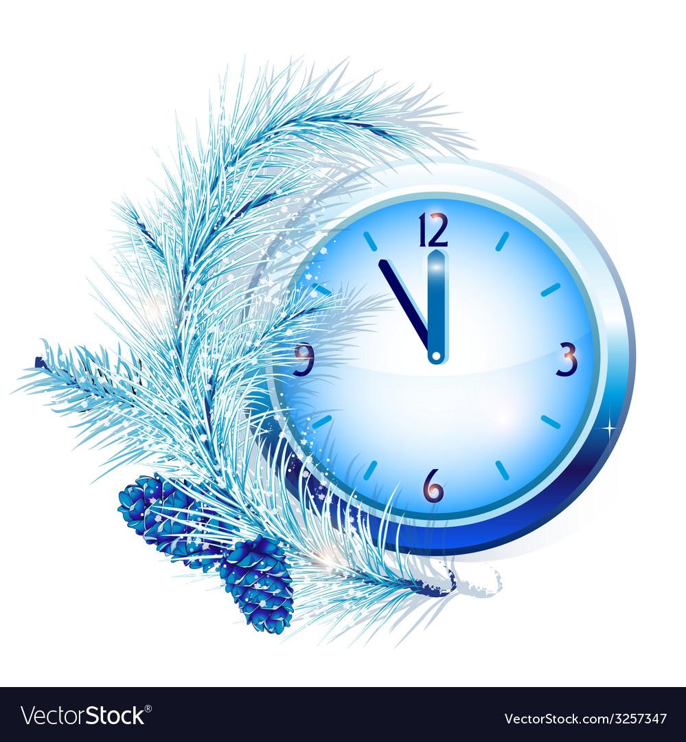 New years clock vector | Price: 1 Credit (USD $1)