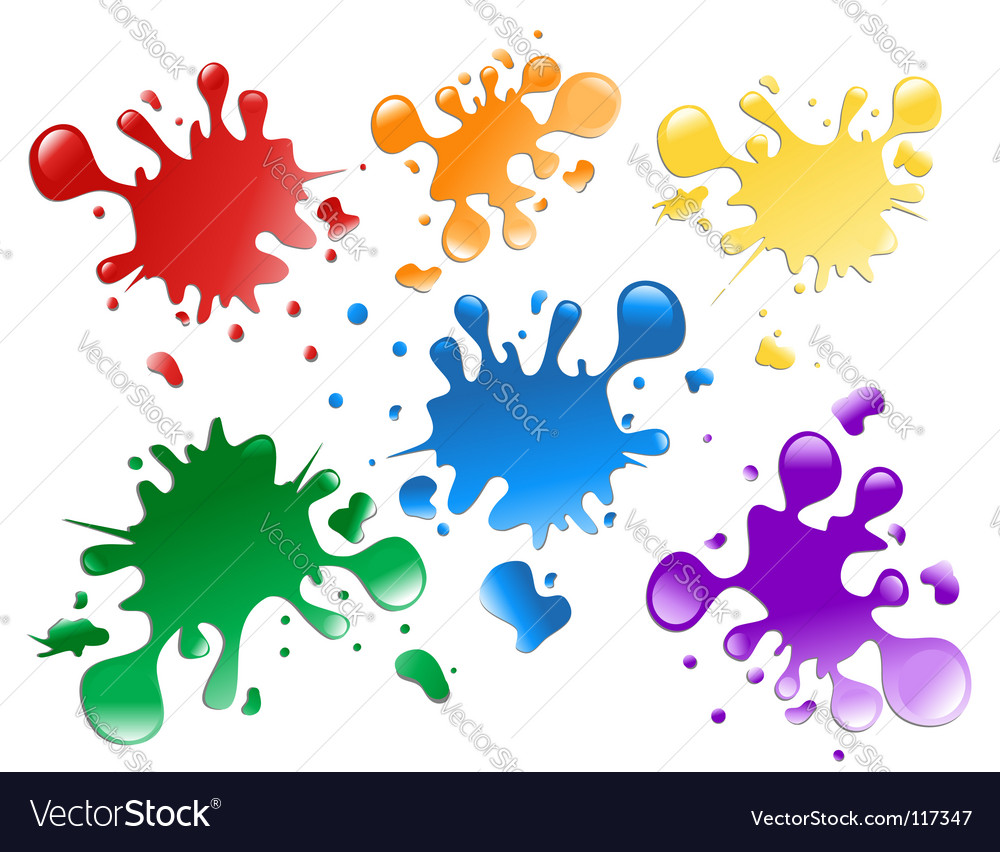Paint splatters vector | Price: 1 Credit (USD $1)