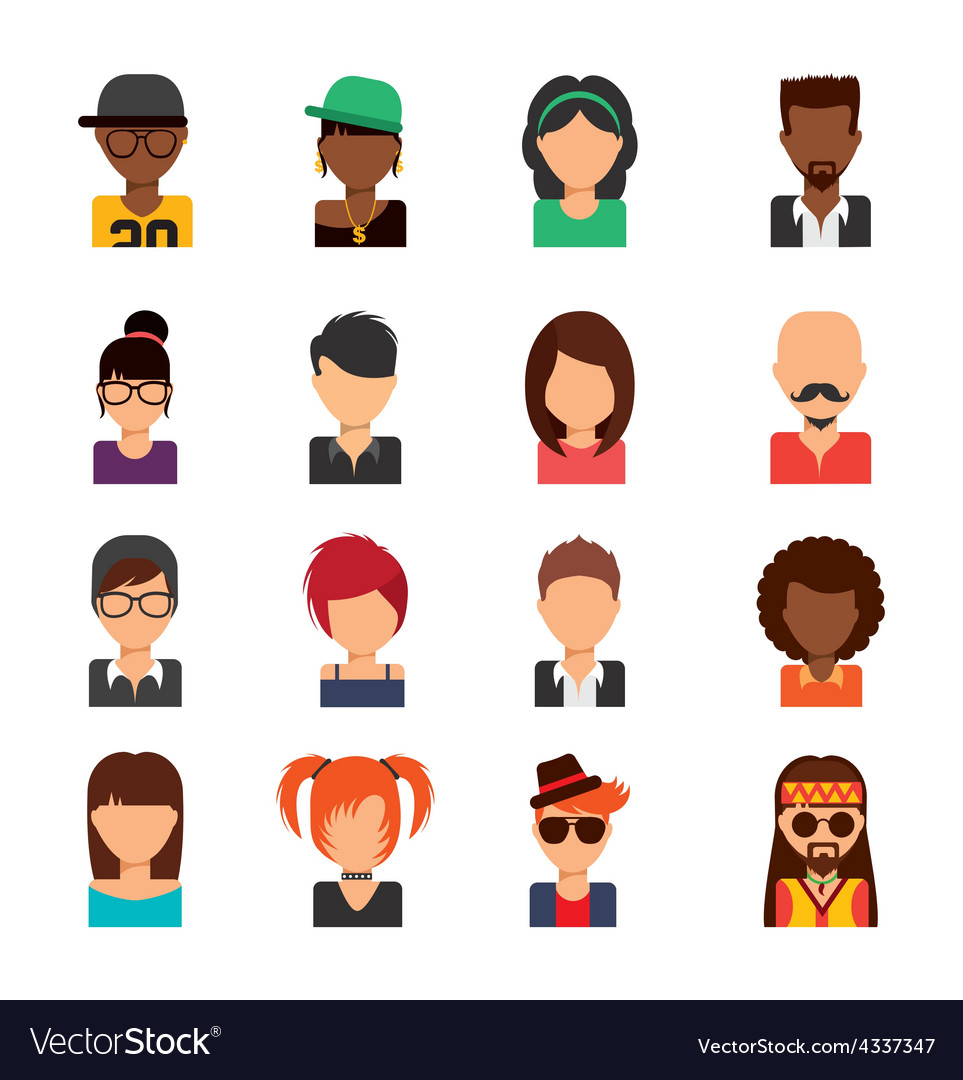 Person avatars vector | Price: 1 Credit (USD $1)