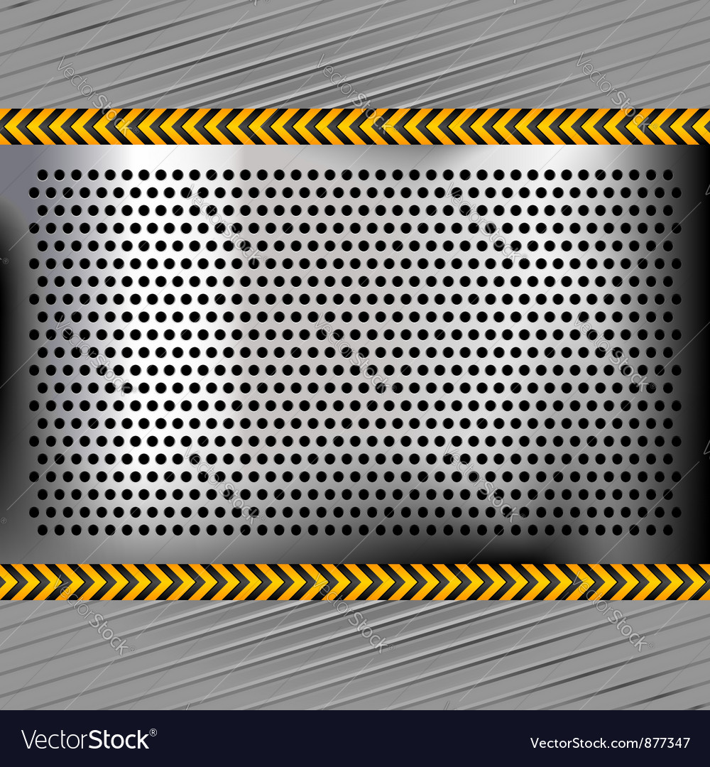Punched metal chromium surface vector | Price: 1 Credit (USD $1)