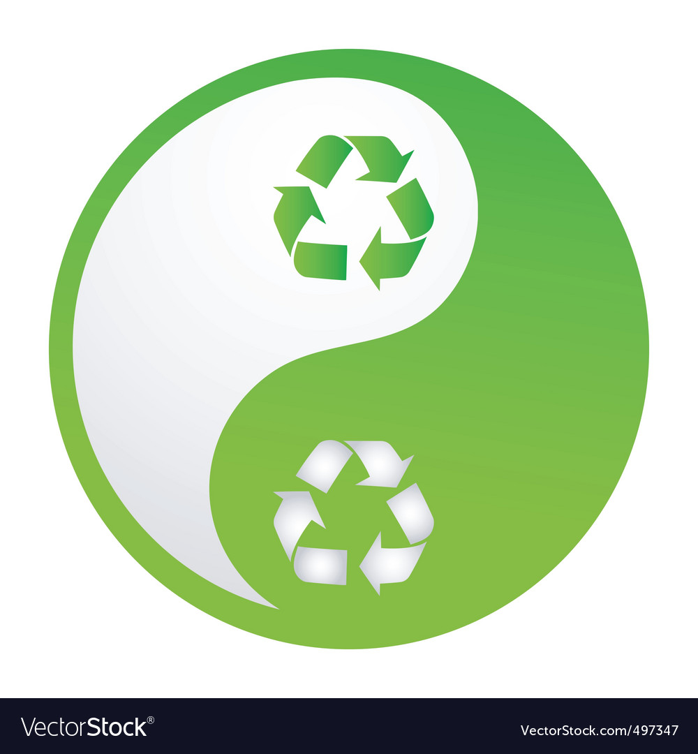 Recycle yin yang vector | Price: 1 Credit (USD $1)