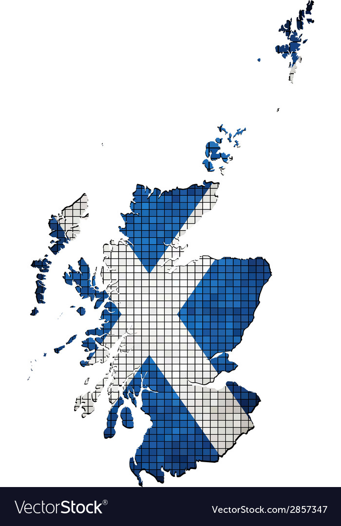 Scotland map grunge mosaic vector | Price: 1 Credit (USD $1)
