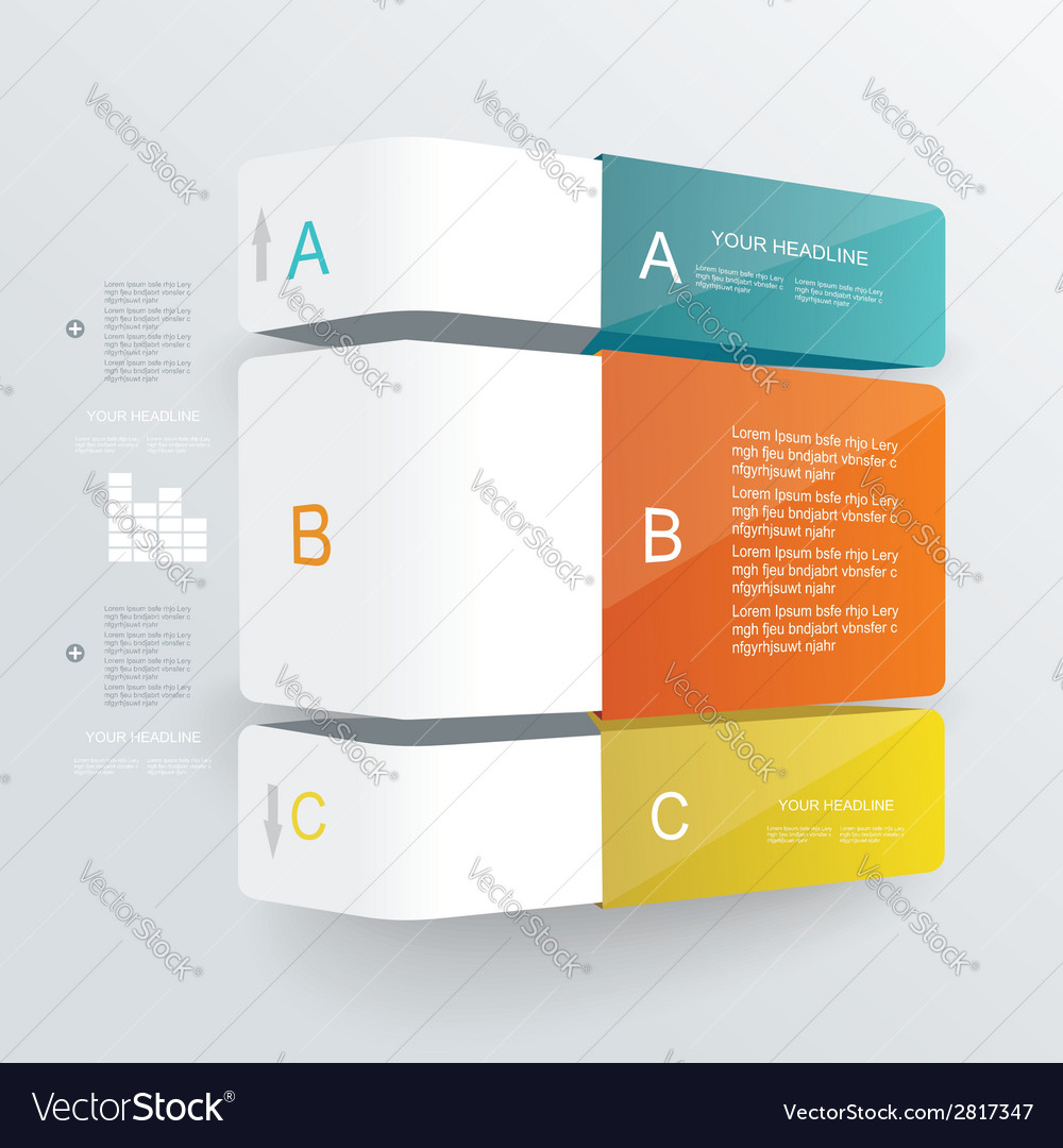 Step by step infographics vector | Price: 1 Credit (USD $1)
