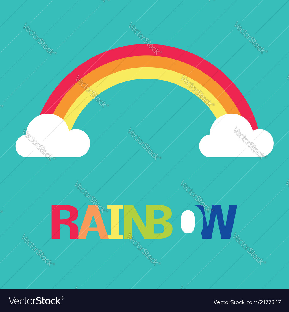 Symbol of rainbow and clouds vector | Price: 1 Credit (USD $1)