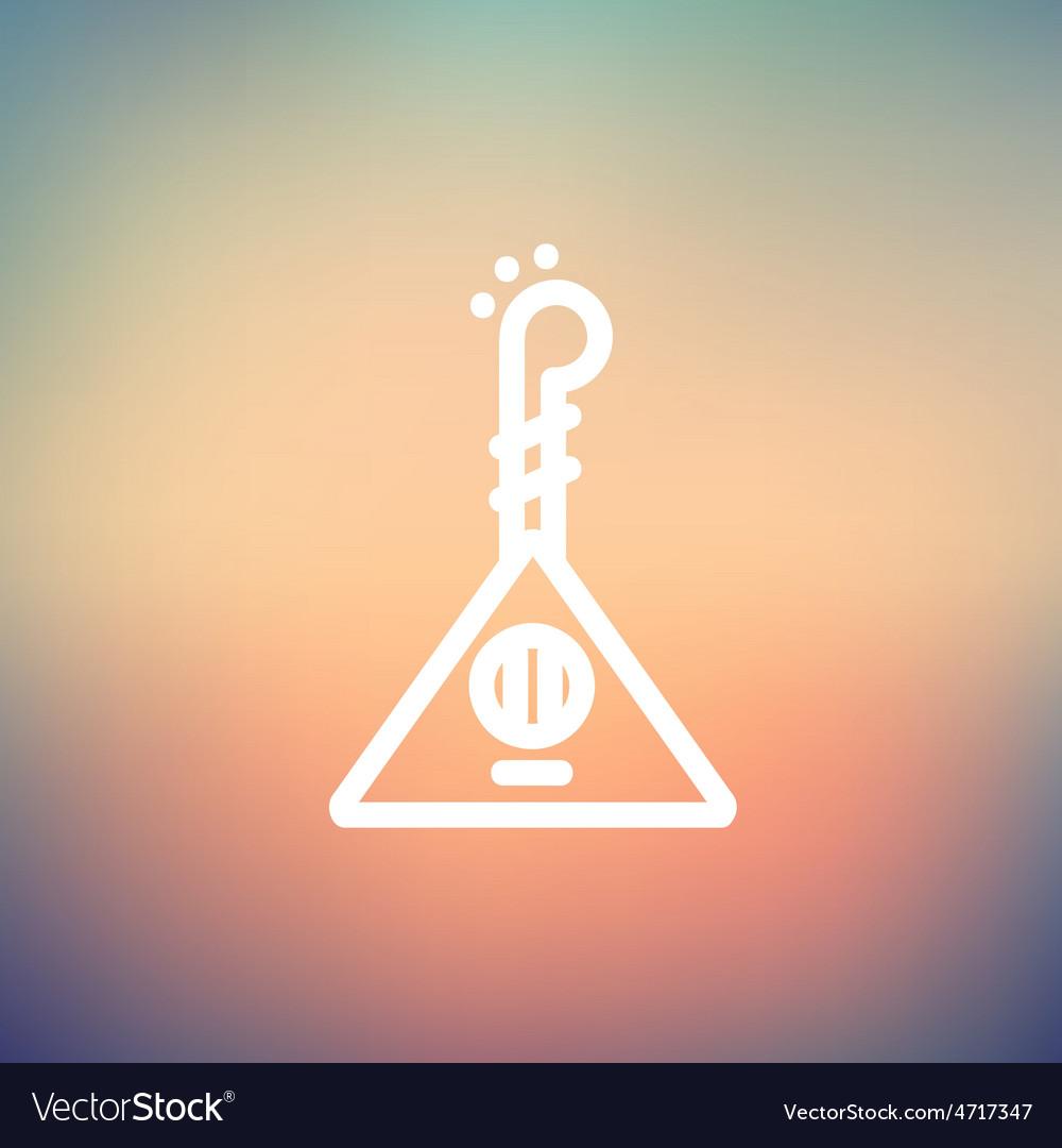 Ukelele thin line icon vector | Price: 1 Credit (USD $1)