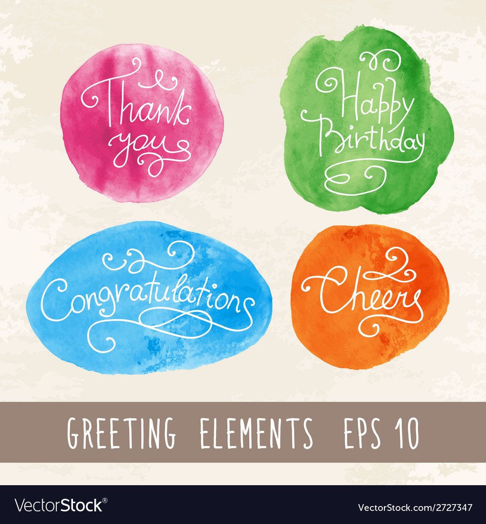 Watercolor inscriptions vector | Price: 1 Credit (USD $1)