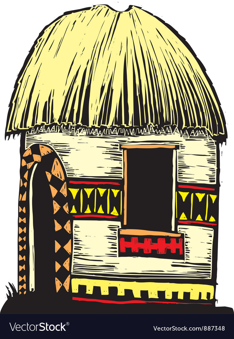 African hut vector | Price: 1 Credit (USD $1)