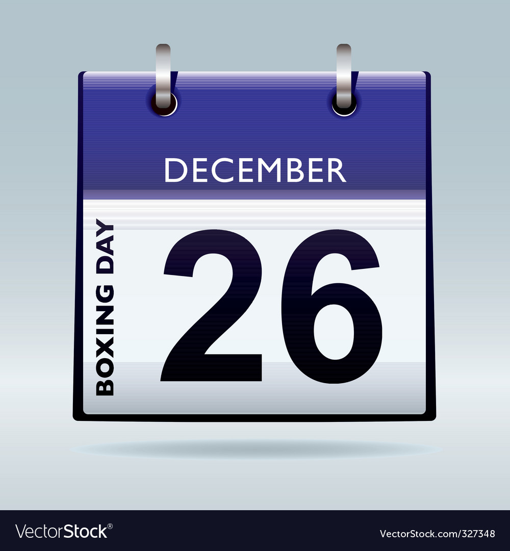 Boxing day calendar blue vector | Price: 1 Credit (USD $1)