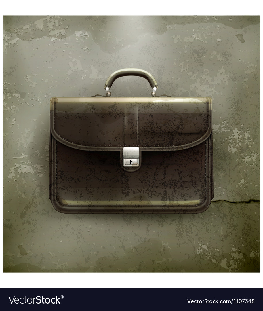 Brief case old-style vector | Price: 3 Credit (USD $3)