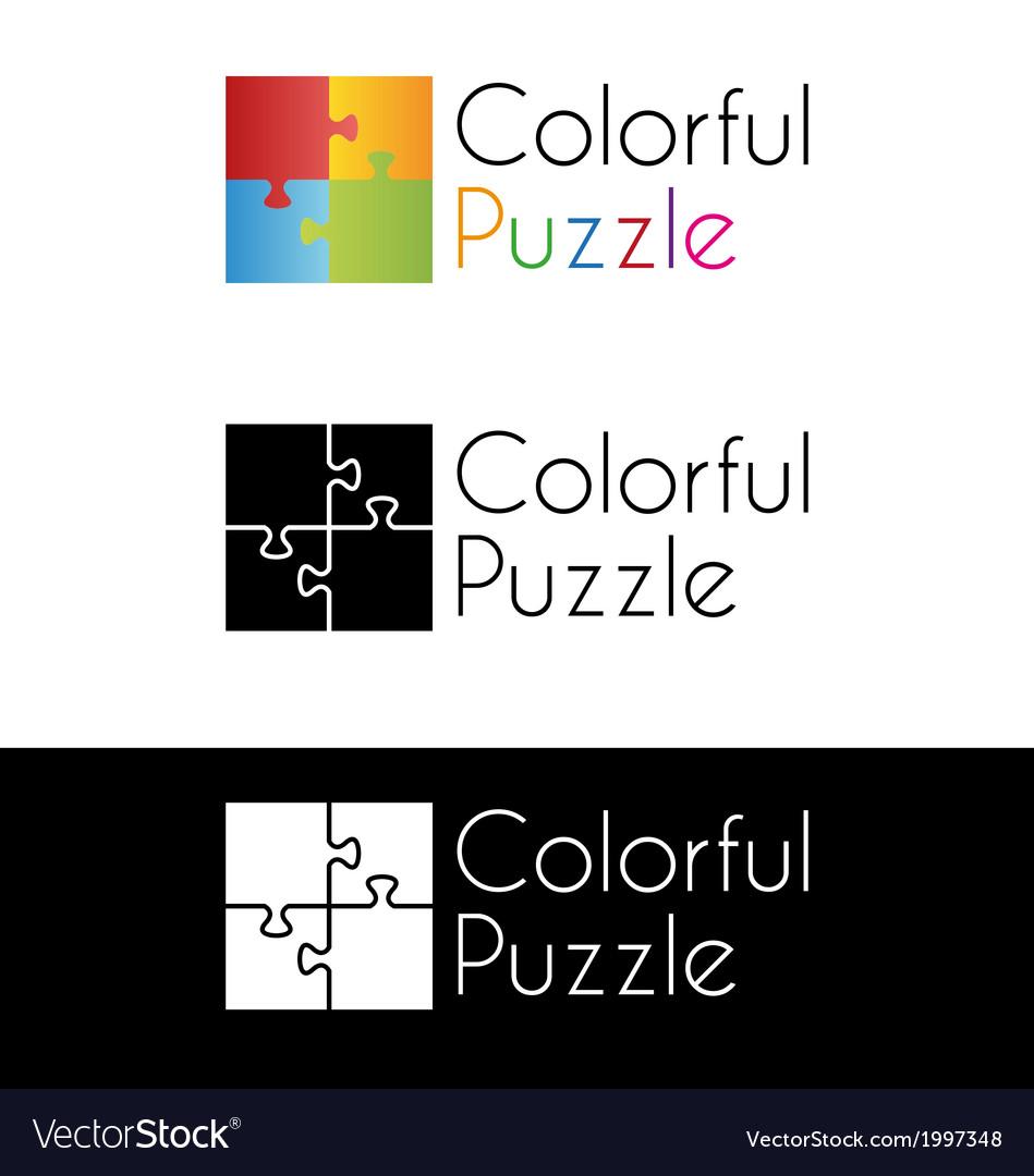 Colorful puzzle logo vector   Price: 1 Credit (USD $1)