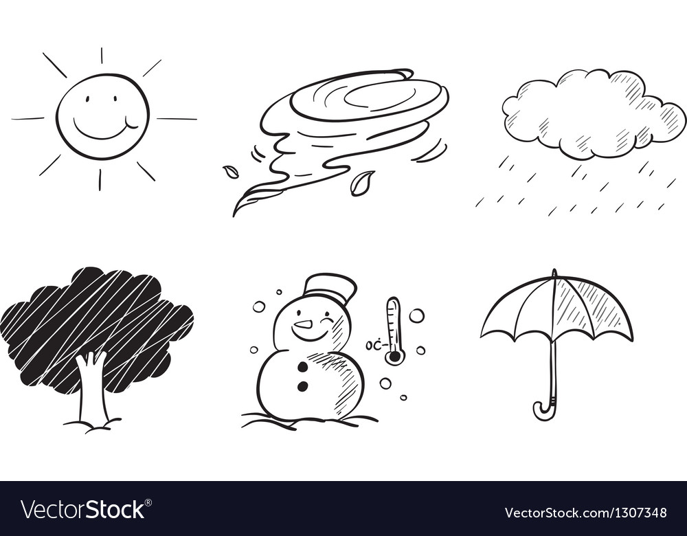 Different kinds of weather vector | Price: 1 Credit (USD $1)
