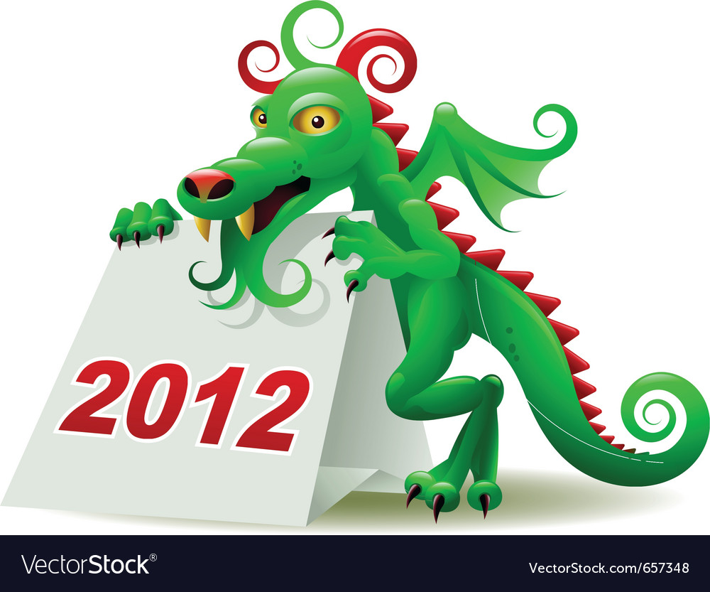 Dragon calendar vector | Price: 3 Credit (USD $3)