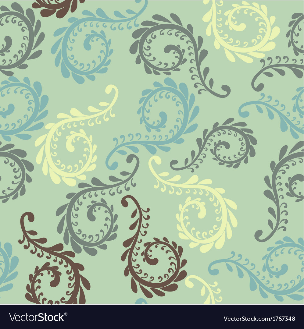 Fern seamless pattern vector | Price: 1 Credit (USD $1)