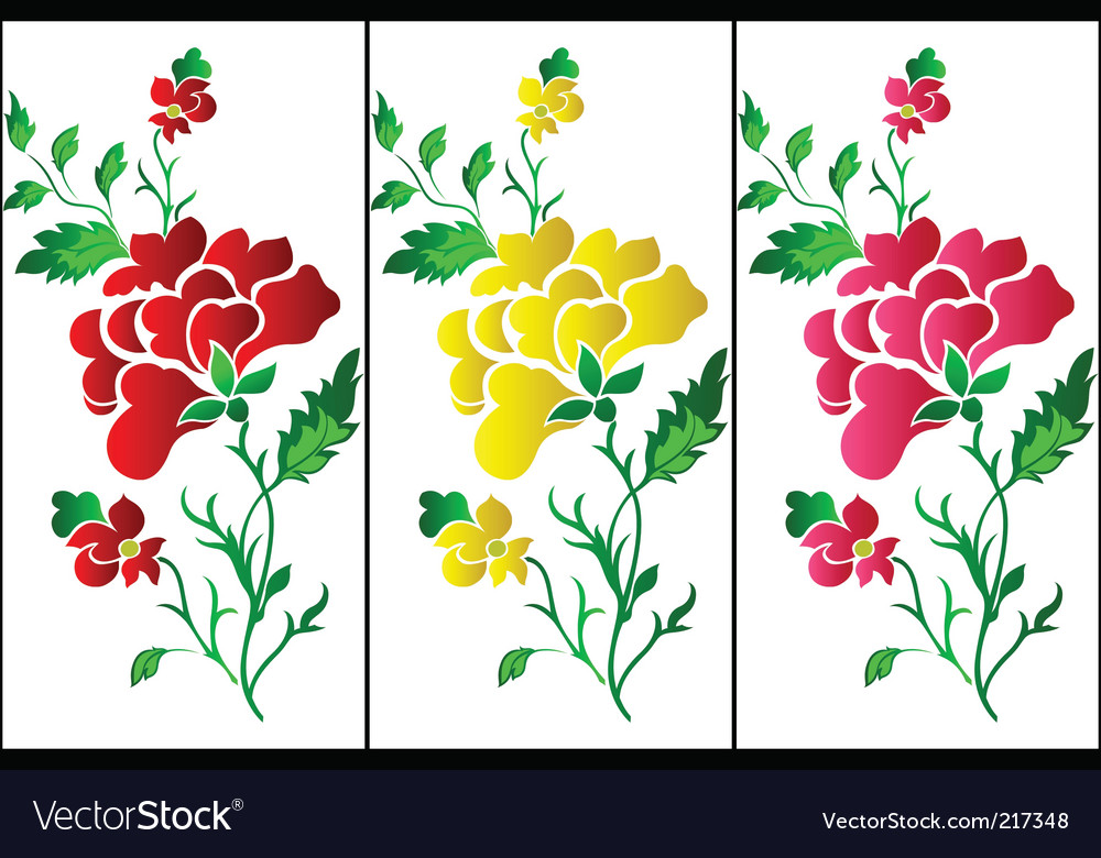 Flower pattern vertical rose tattoo vector | Price: 1 Credit (USD $1)