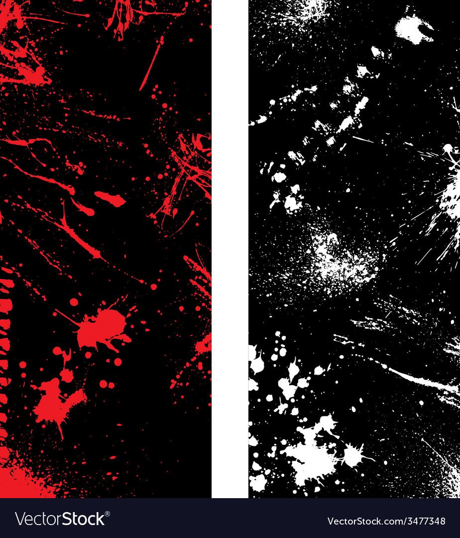 Ink blots banners vector | Price: 1 Credit (USD $1)