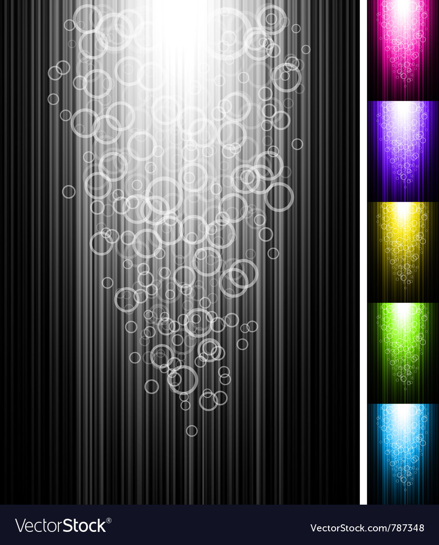 Line with circles shine vertical background vector | Price: 1 Credit (USD $1)