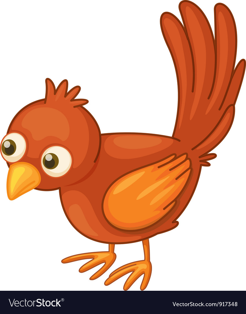 Red bird on white vector | Price: 3 Credit (USD $3)