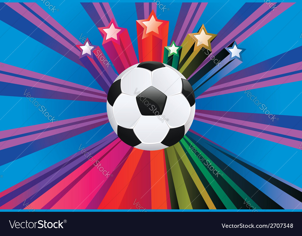 Soccer ball with stars3 vector | Price: 1 Credit (USD $1)