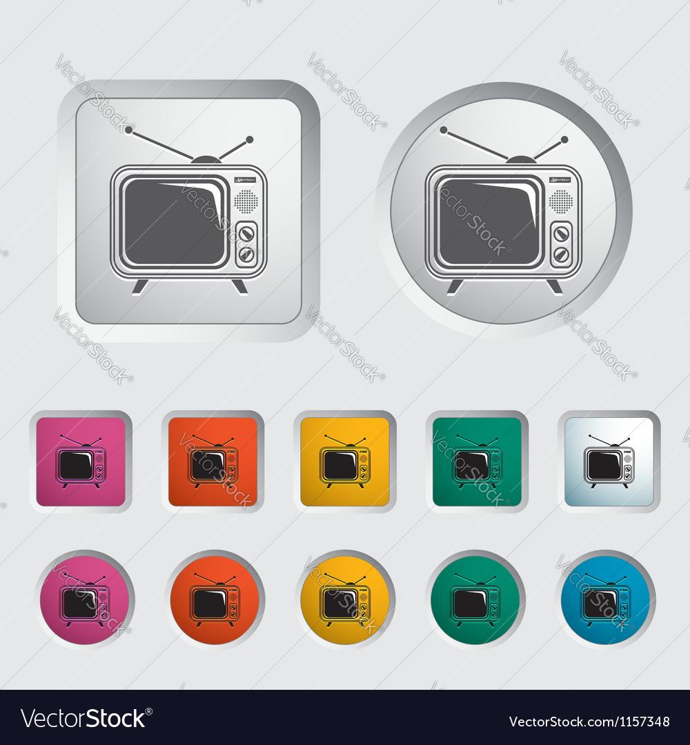 Tv single icon vector | Price: 1 Credit (USD $1)