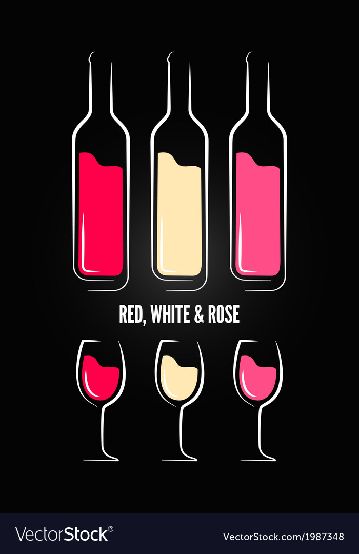 Wine glass bottle label design background vector | Price: 1 Credit (USD $1)