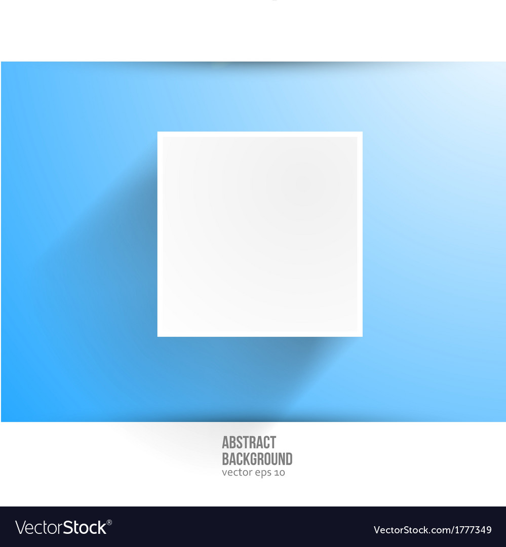 Banner background white square vector | Price: 1 Credit (USD $1)