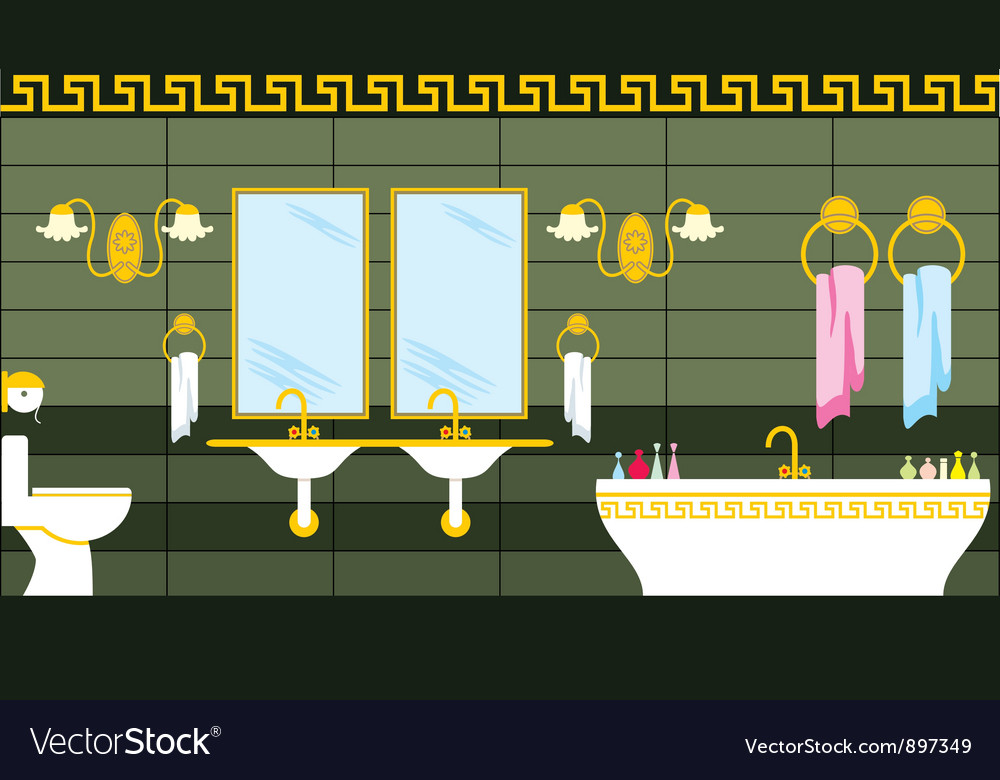 Bathroom in the greek style vector | Price: 1 Credit (USD $1)