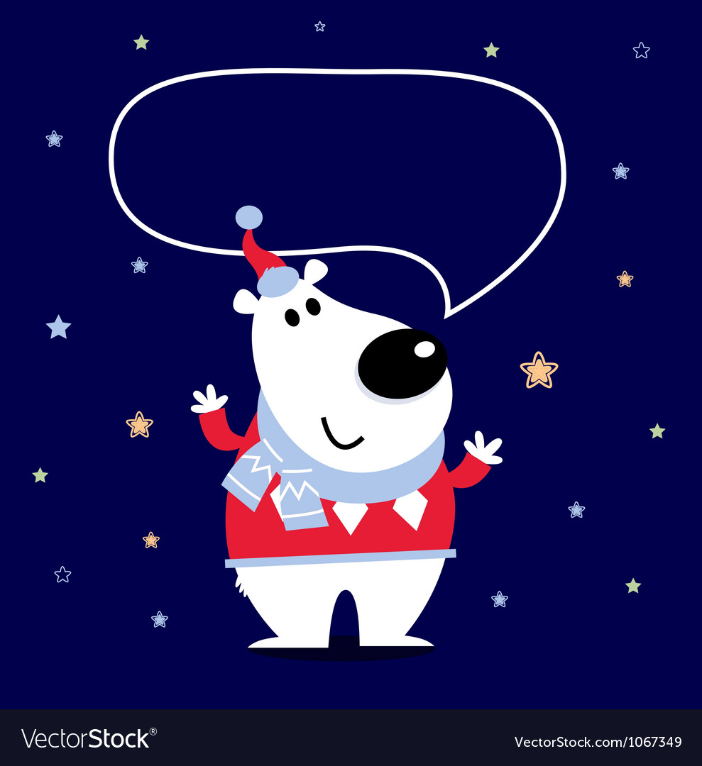 Cartoon polar bear vector | Price: 1 Credit (USD $1)