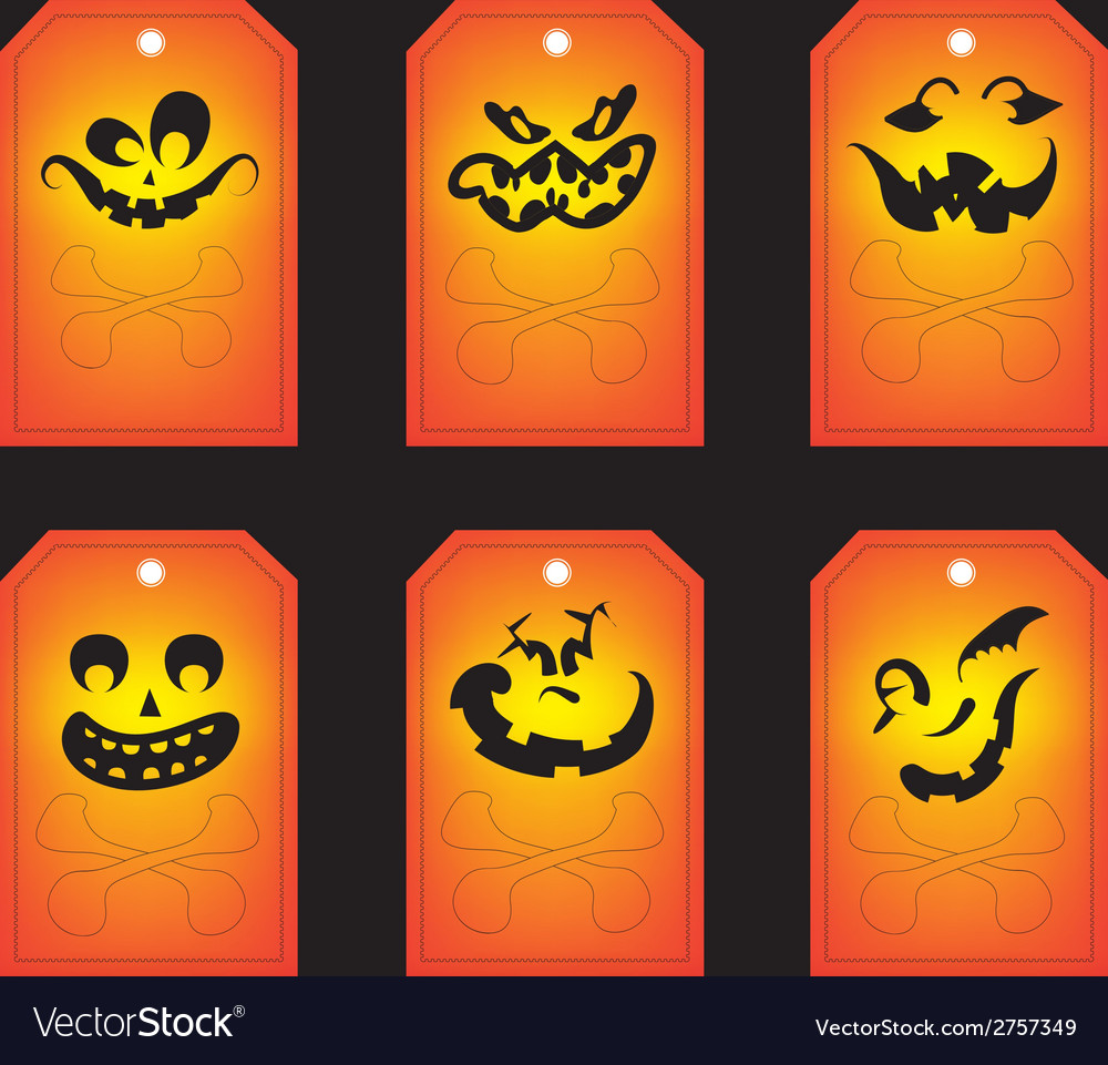 Chalkboard halloween gift tags vector | Price: 1 Credit (USD $1)