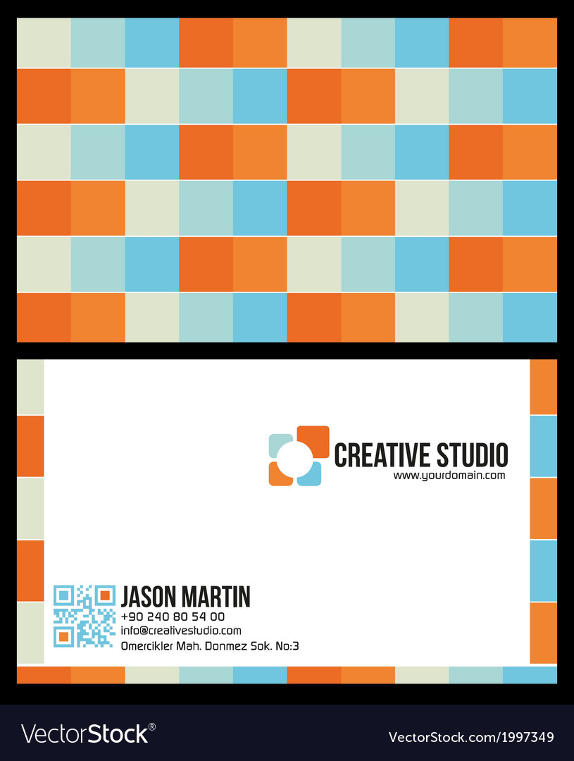 Creative colorful business card vector | Price: 1 Credit (USD $1)