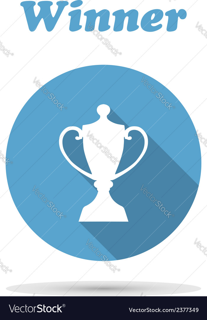 Flat icon of trophy cup vector | Price: 1 Credit (USD $1)