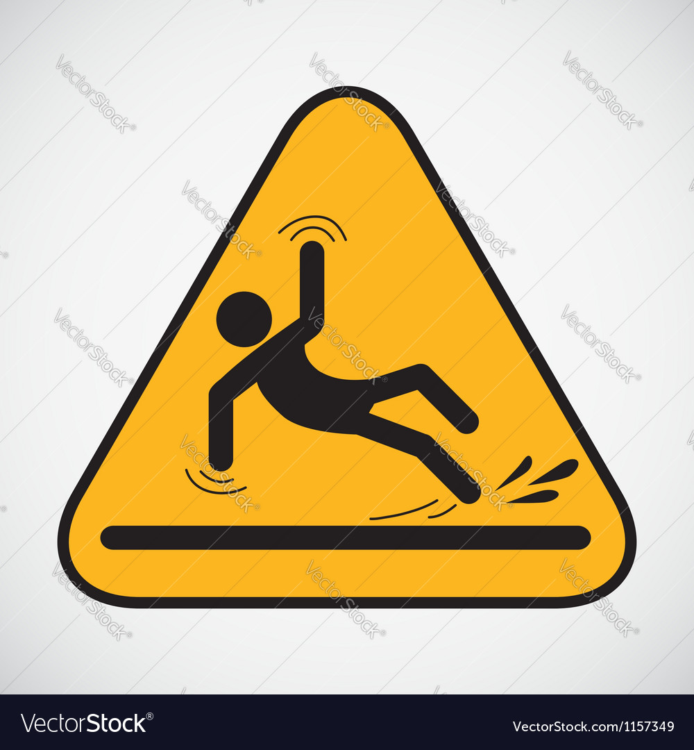 Wet floor caution sign vector | Price: 1 Credit (USD $1)