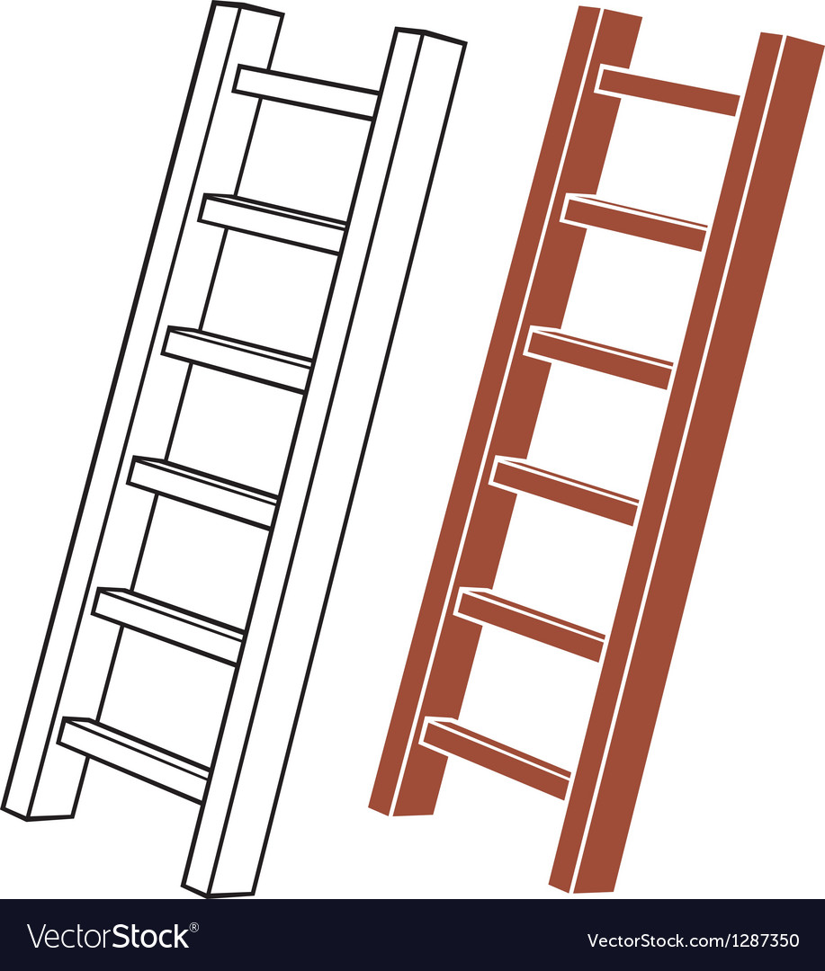 A wooden ladder vector | Price: 1 Credit (USD $1)