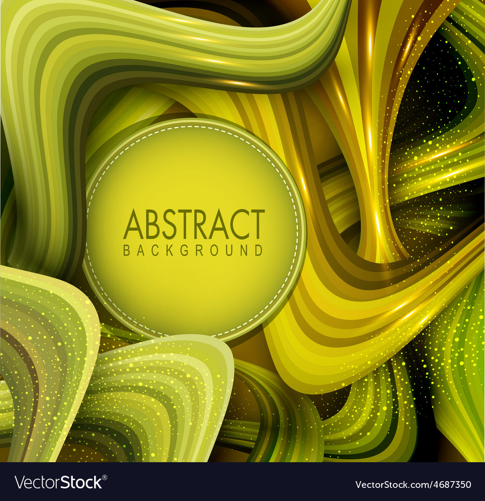 Abstract background with green waves vector | Price: 1 Credit (USD $1)