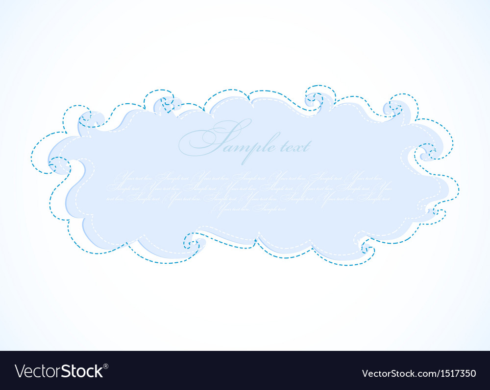 Abstract blue cloud frame vector | Price: 1 Credit (USD $1)