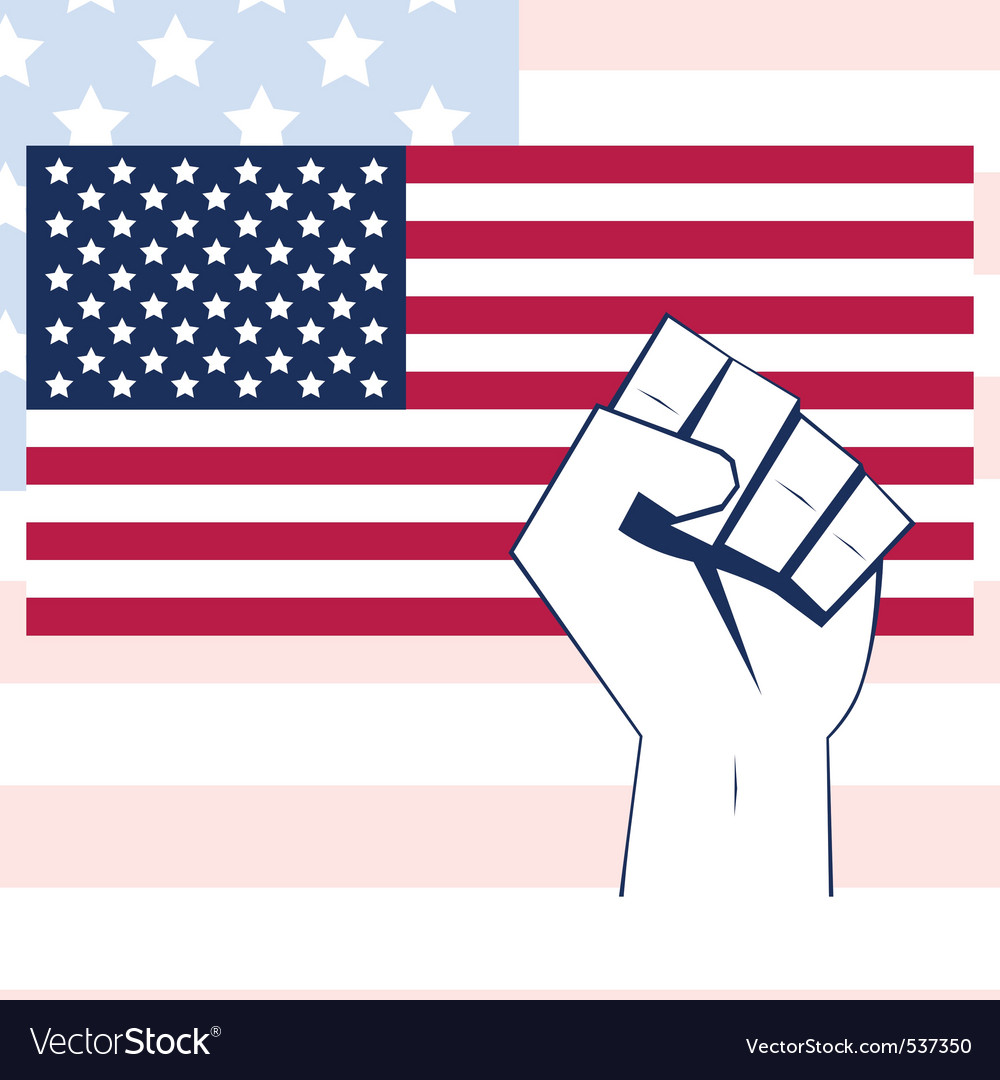 Ag vector with fist independence background vector | Price: 1 Credit (USD $1)