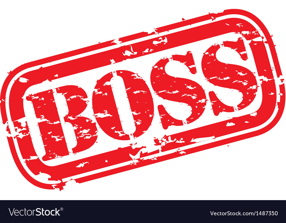 Boss stamp vector | Price: 1 Credit (USD $1)