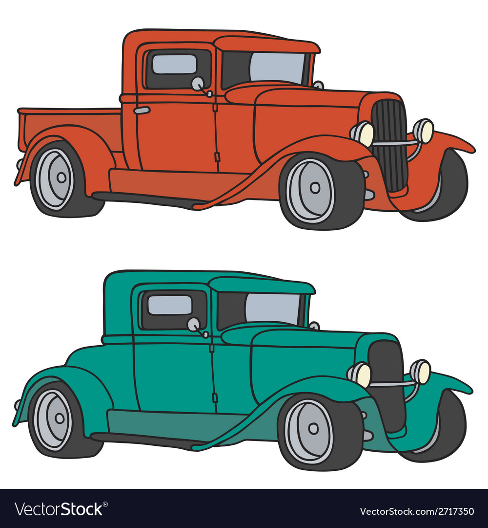 Classic cars vector | Price: 1 Credit (USD $1)