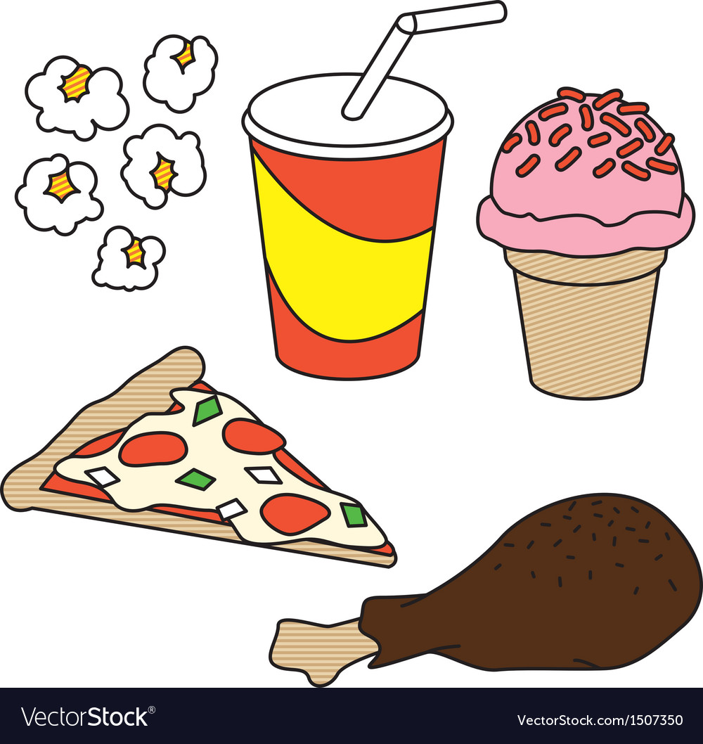 Fast food graphics vector | Price: 1 Credit (USD $1)