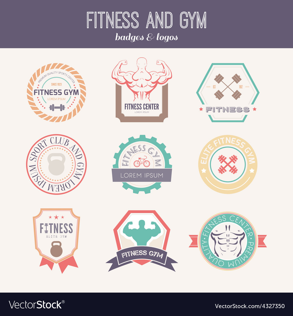 Fitness and sport gym logos vector | Price: 1 Credit (USD $1)