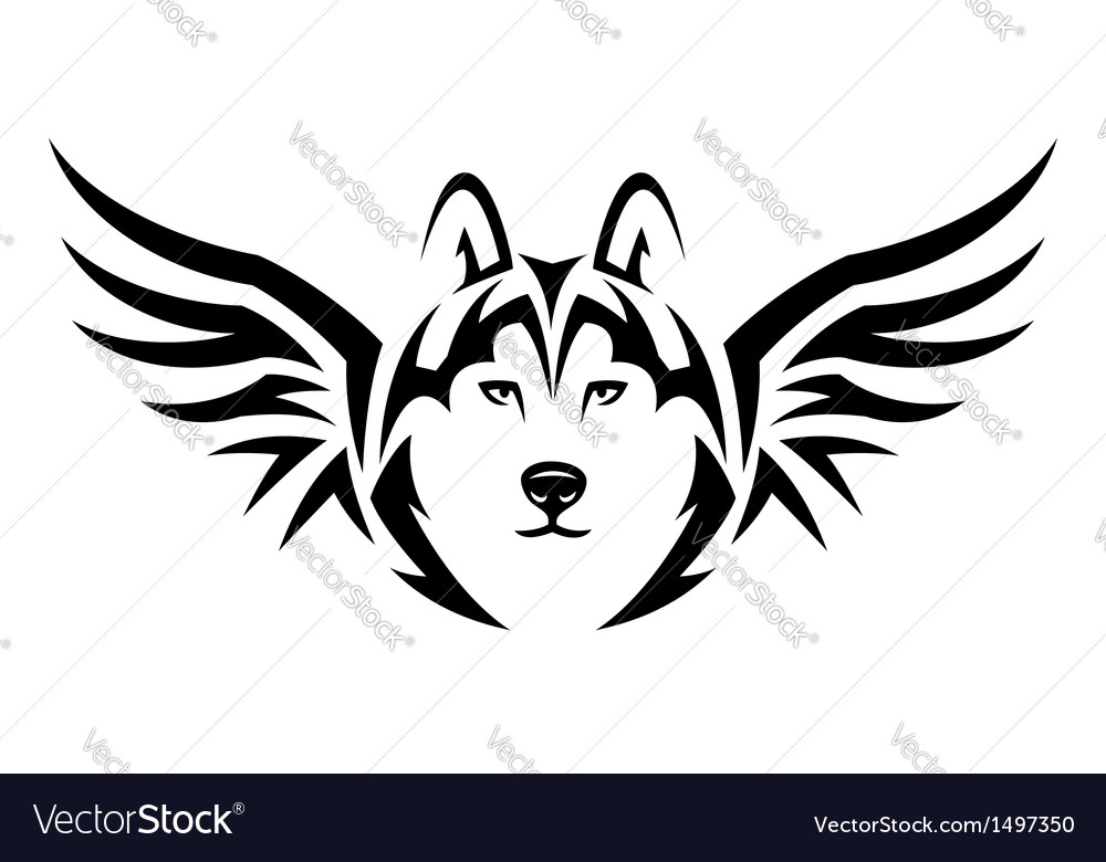 Flying husky vector | Price: 1 Credit (USD $1)