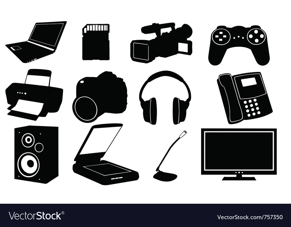 Of different electronics vector | Price: 1 Credit (USD $1)