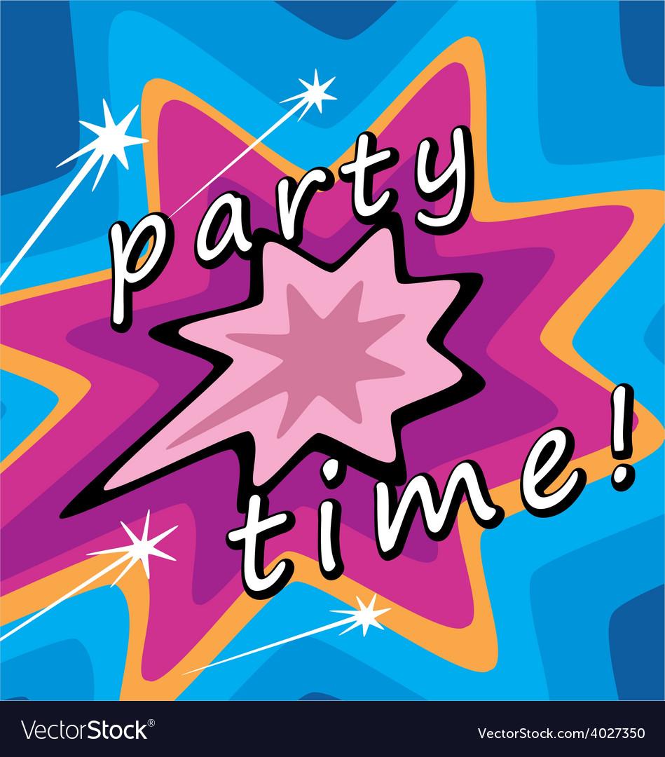 Party invitations vector