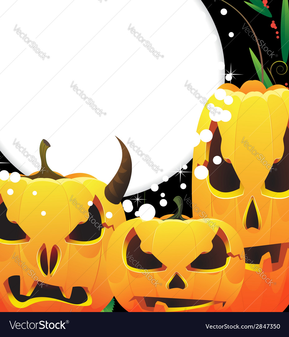 Terrible jack o lanterns vector | Price: 1 Credit (USD $1)