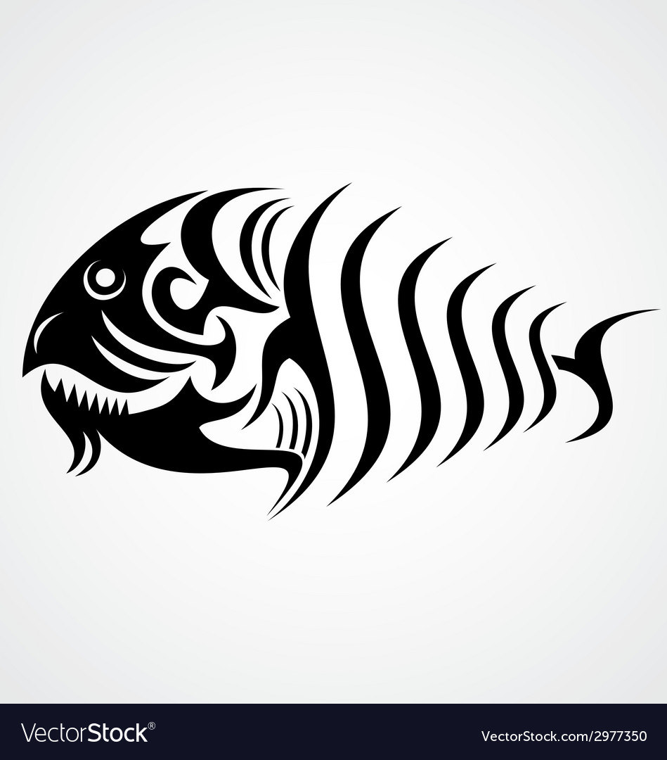 Tribal fish vector | Price: 1 Credit (USD $1)