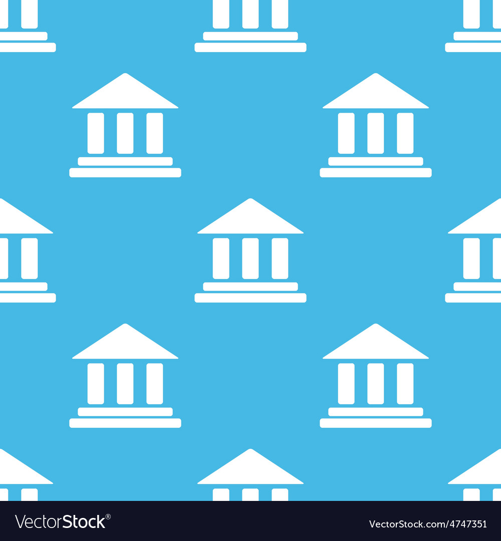Blue classical building pattern vector | Price: 1 Credit (USD $1)