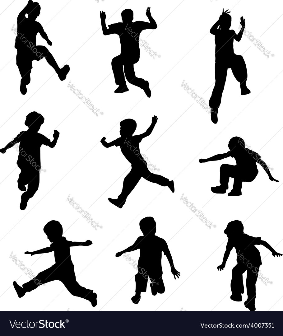 Children jumping vector | Price: 1 Credit (USD $1)