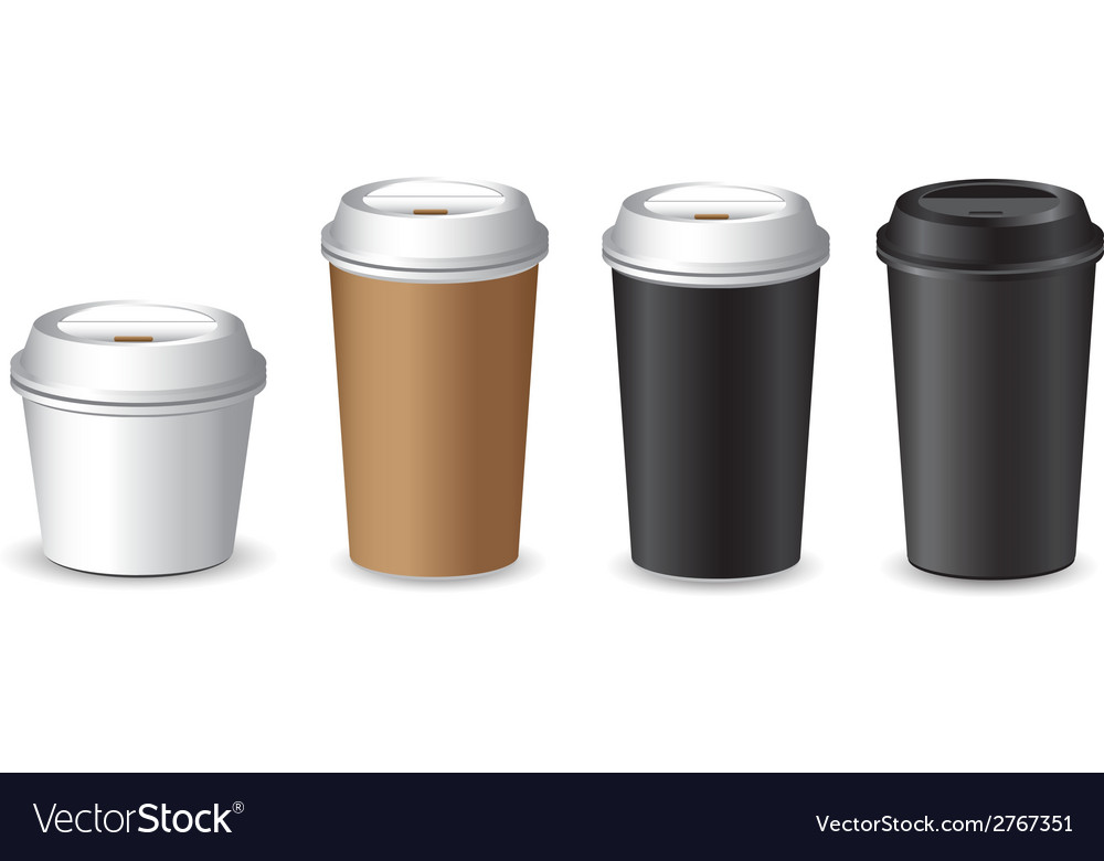 Cofee cup set vector | Price: 1 Credit (USD $1)