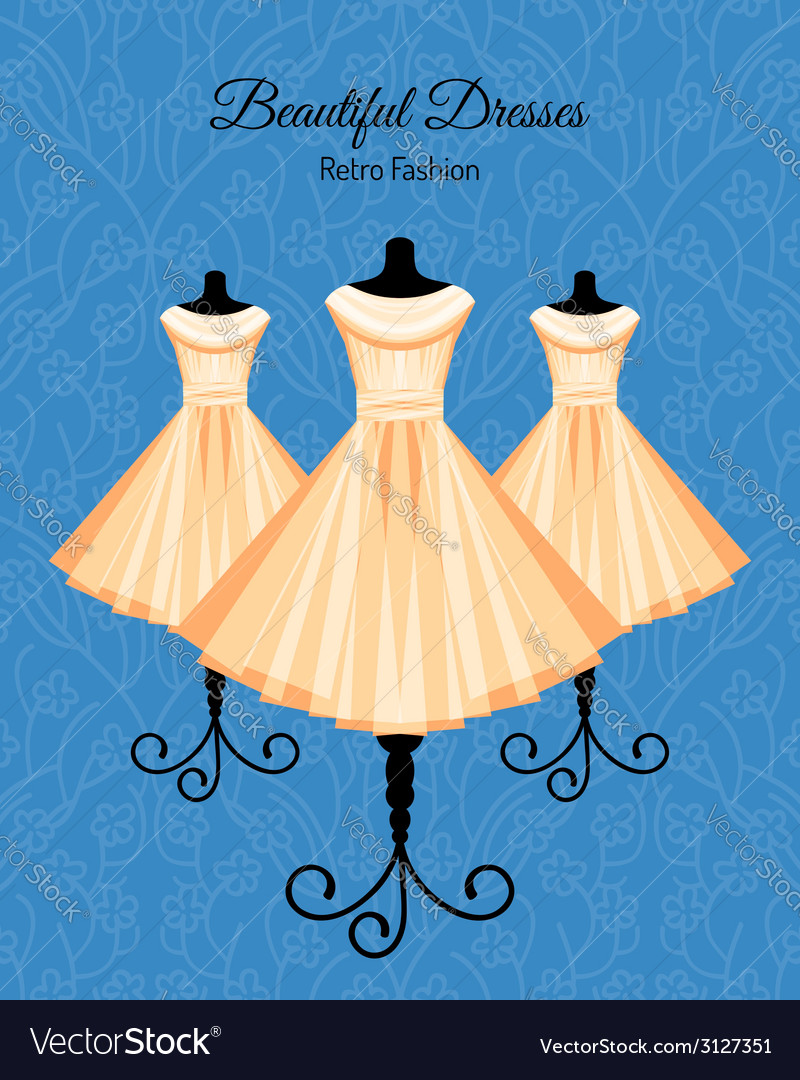 Dresses on the mannequins background vector | Price: 1 Credit (USD $1)