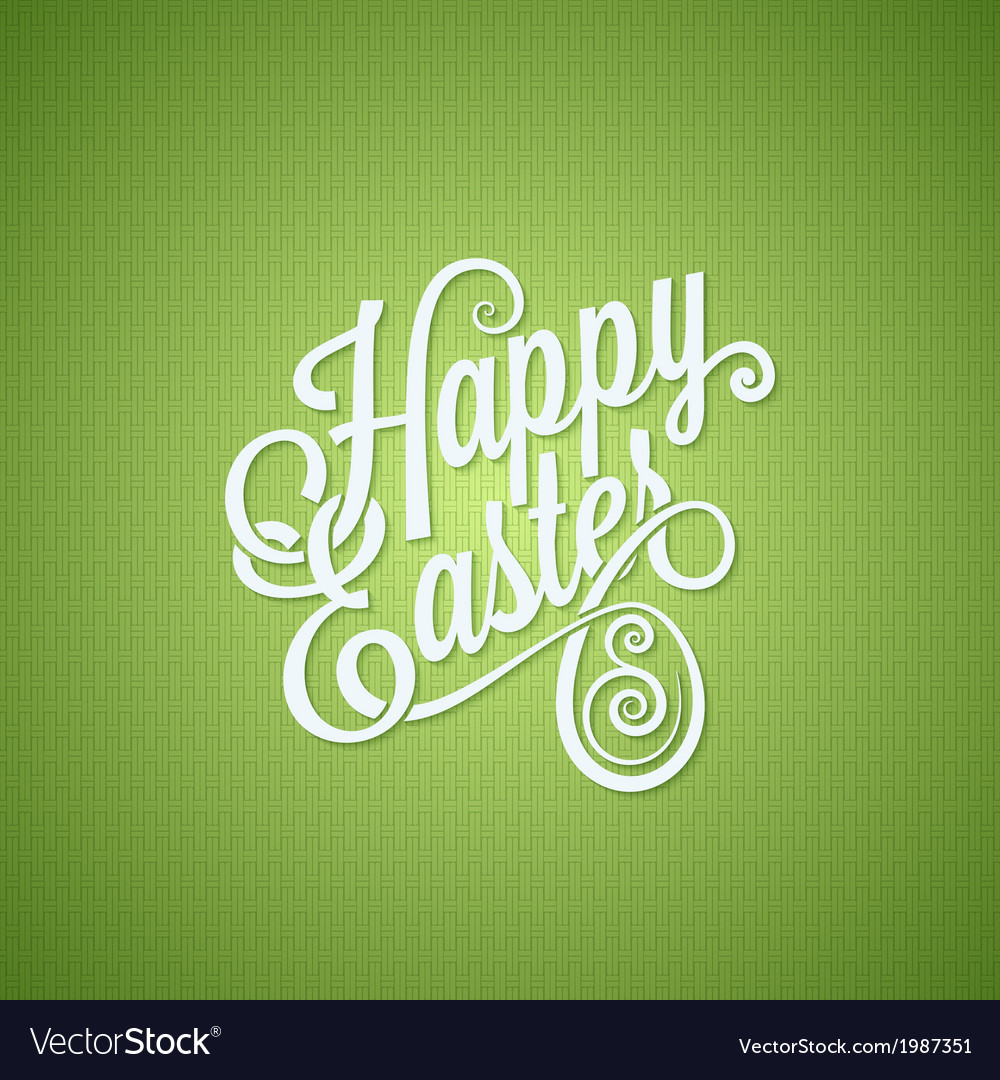 Easter egg vintage lettering design background vector | Price: 1 Credit (USD $1)
