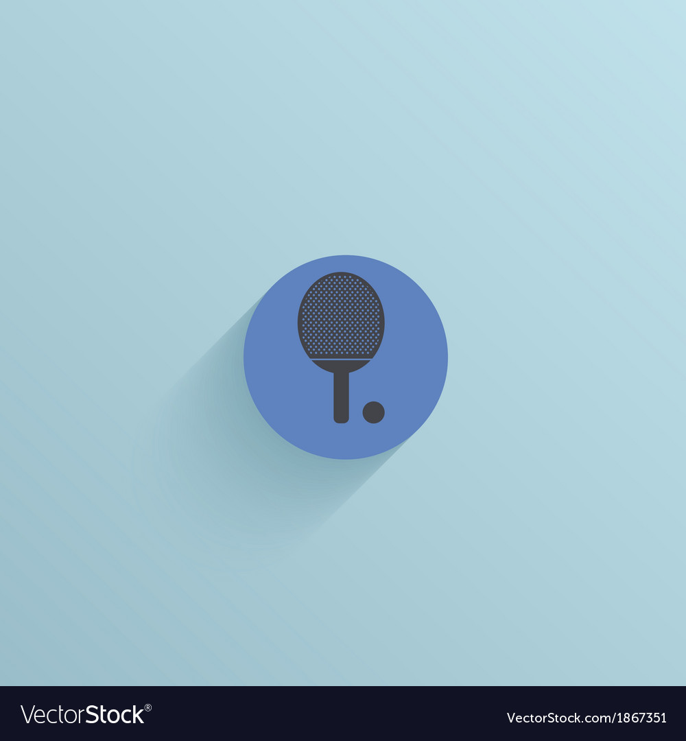 Flat circle icon on blue background eps10 vector | Price: 1 Credit (USD $1)